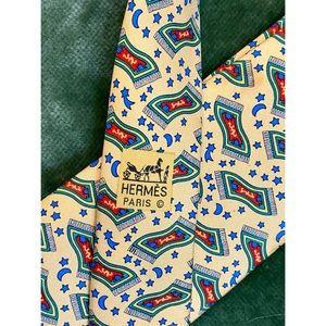 Hermes Silk Necktie Tie 7483IA Magic Carpet Print!